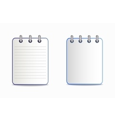 Notepad is blue in two variants vector image vector image