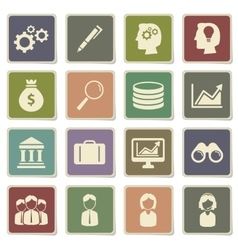 Office simply icons vector image