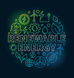 renewable energy round colorful vector image vector image