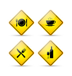 Restaurant road signs vector
