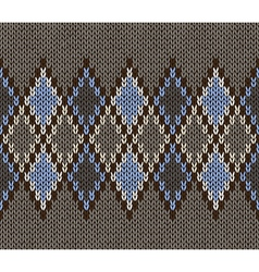 Seamless jacquard knitted pattern vector