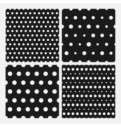Set of senmless polka dots pattern vector image vector image