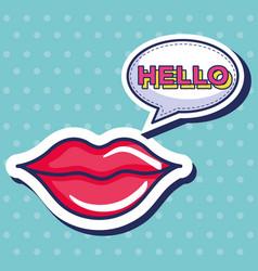 sexi woman lips icon vector image