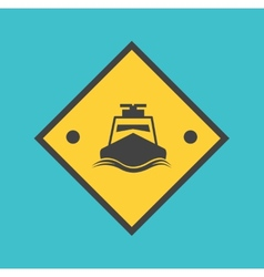 speedboat vector image