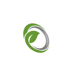 swoosh leaf logo vector image vector image