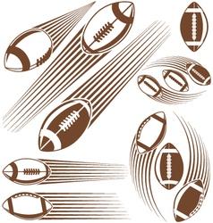 Symbolic american football ball vector image vector image