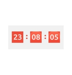 Time clock icon vector