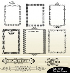 Vintage border frame vector