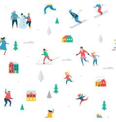 Winter sport background vector
