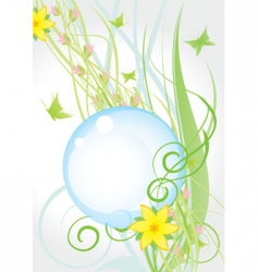yellow nature flowers round fr vector image vector image