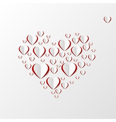 Creative paper heart vector image