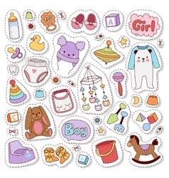 Baby stickers badge vector image