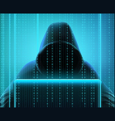 Hacker code realistic composition vector