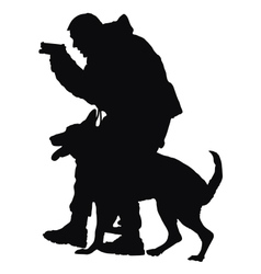 Police Dog vector image
