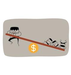 Teamwork Money Roll vector image