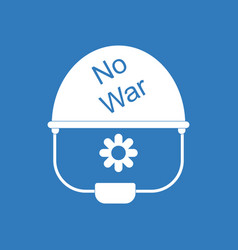 icon no war military helmet vector image