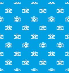 Photocamera pattern seamless blue vector