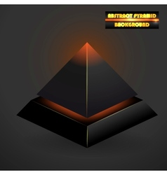 Abstract black 3d pyramid vector