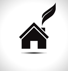 Bio green house icon vector