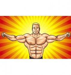 bodybuilder vector image