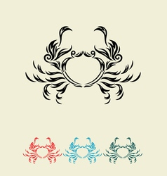 Crab decor vector