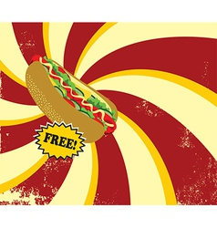 Retro hot dog vector