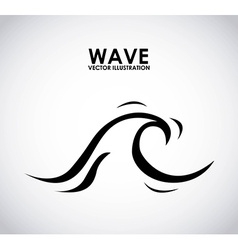wave design vector image