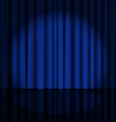 Stage curtain with light spot vector