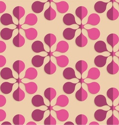 Retro fold purple six pedal flowers vector