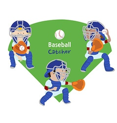 Baseball catcher vector