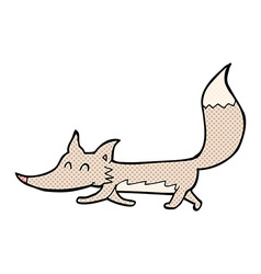 Comic cartoon little wolf vector