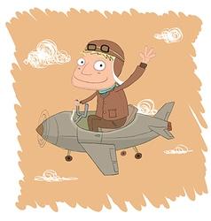 pilot vector image