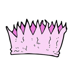 Comic cartoon paper crown vector
