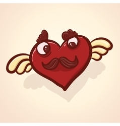 Fulish cartoon heart vector