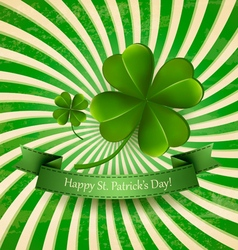 Happy st patricks day background with a clover vector