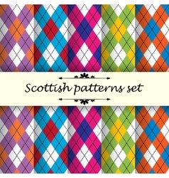Scottish pattern 2 vector
