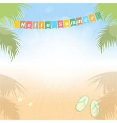 Summer holiday sales background banner vector