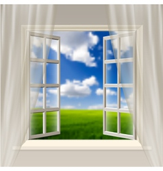 Opening window vector