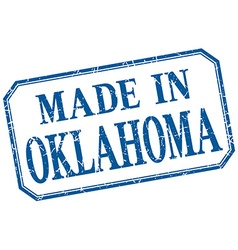 Oklahoma - made in blue vintage isolated label vector