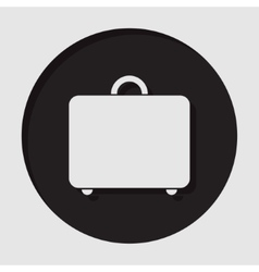 Information icon - suitcase vector