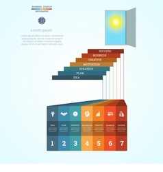 Infographic template steps 7 vector