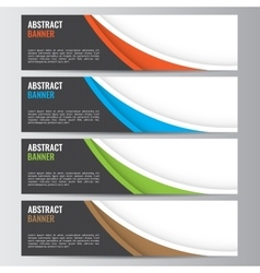 Abstract banner business background vector