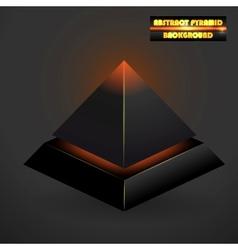 Abstract black 3d pyramid vector