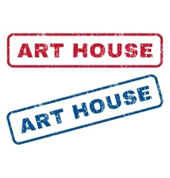 Art house rubber stamps vector