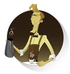 Barista making coffee vector image