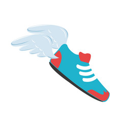 Baseball shoes sport emblem icon vector