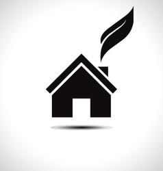 Bio green house icon vector