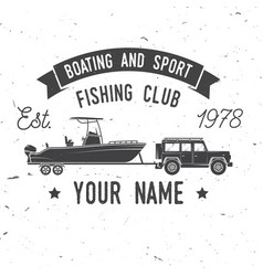 Boating and sport fishing club vector