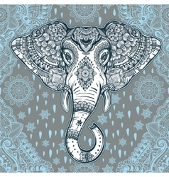 Boho ethnic elephant seamless pattern vector