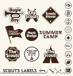 Boy Scouts Labels vector image vector image